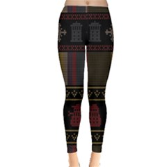 Tardis Doctor Who Ugly Holiday Leggings