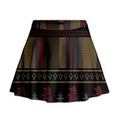 Tardis Doctor Who Ugly Holiday Mini Flare Skirt