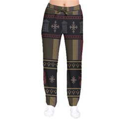 Tardis Doctor Who Ugly Holiday Drawstring Pants