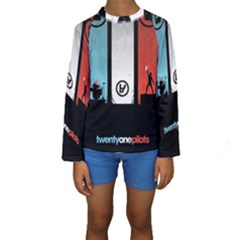 Twenty One 21 Pilots Kids  Long Sleeve Swimwear