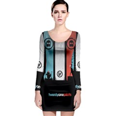 Twenty One 21 Pilots Long Sleeve Bodycon Dress