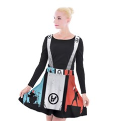Twenty One 21 Pilots Suspender Skater Skirt