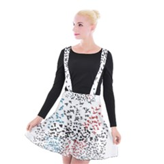 Twenty One Pilots Birds Suspender Skater Skirt