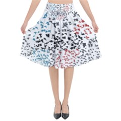 Twenty One Pilots Birds Flared Midi Skirt