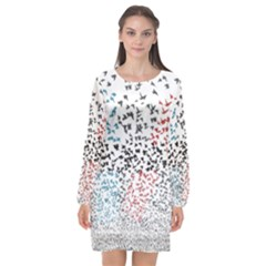 Twenty One Pilots Birds Long Sleeve Chiffon Shift Dress