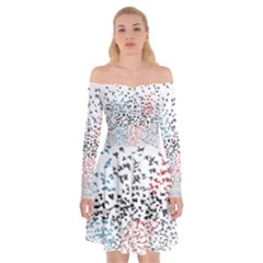 Twenty One Pilots Birds Off Shoulder Skater Dress