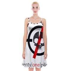 Twenty One Pilots Skull Spaghetti Strap Velvet Dress