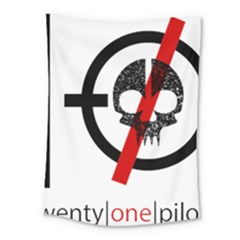 Twenty One Pilots Skull Medium Tapestry