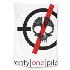 Twenty One Pilots Skull Large Tapestry