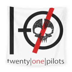 Twenty One Pilots Skull Square Tapestry (large)