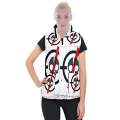 Twenty One Pilots Skull Women s Button Up Puffer Vest