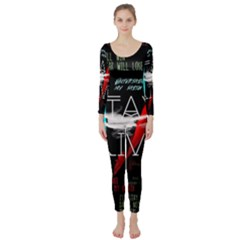 Twenty One Pilots Stay Alive Song Lyrics Quotes Long Sleeve Catsuit