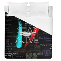 Twenty One Pilots Stay Alive Song Lyrics Quotes Duvet Cover (Queen Size)