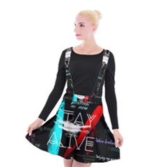 Twenty One Pilots Stay Alive Song Lyrics Quotes Suspender Skater Skirt