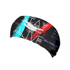 Twenty One Pilots Stay Alive Song Lyrics Quotes Yoga Headband