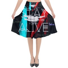 Twenty One Pilots Stay Alive Song Lyrics Quotes Flared Midi Skirt