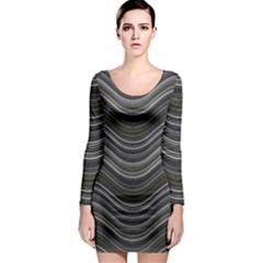 Abstraction Long Sleeve Bodycon Dress