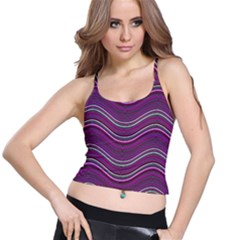 Abstraction Spaghetti Strap Bra Top