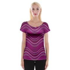 Abstraction Women s Cap Sleeve Top