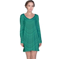 Abstraction Long Sleeve Nightdress