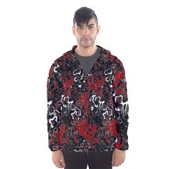 Abstraction Hooded Wind Breaker (Men)