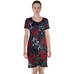 Abstraction Short Sleeve Nightdress