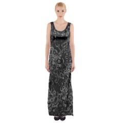 Abstraction Maxi Thigh Split Dress