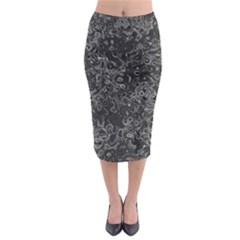 Abstraction Midi Pencil Skirt