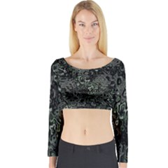 Abstraction Long Sleeve Crop Top