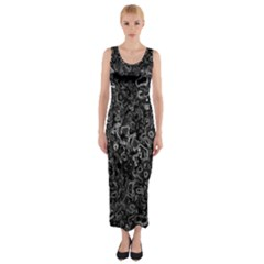 Abstraction Fitted Maxi Dress