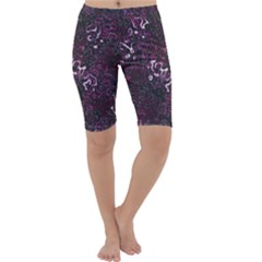 Abstraction Cropped Leggings