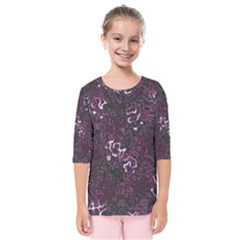 Abstraction Kids  Quarter Sleeve Raglan Tee