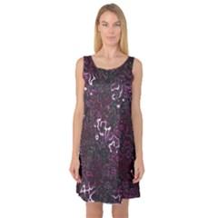 Abstraction Sleeveless Satin Nightdress
