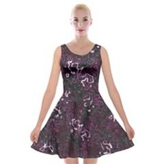 Abstraction Velvet Skater Dress