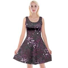 Abstraction Reversible Velvet Sleeveless Dress