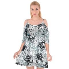 Abstraction Cutout Spaghetti Strap Chiffon Dress