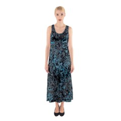 Abstraction Sleeveless Maxi Dress