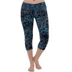 Abstraction Capri Yoga Leggings