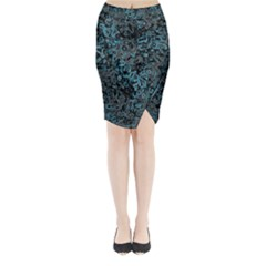 Abstraction Midi Wrap Pencil Skirt