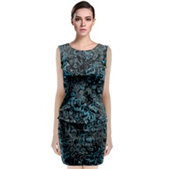 Abstraction Sleeveless Velvet Midi Dress