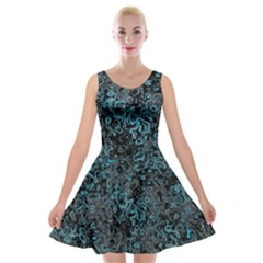 Abstraction Velvet Skater Dress