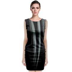 Abstraction Classic Sleeveless Midi Dress