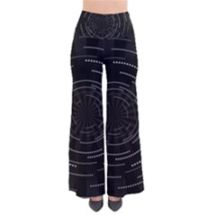 Abstract Black White Geometric Arcs Triangles Wicker Structural Texture Hole Circle Pants