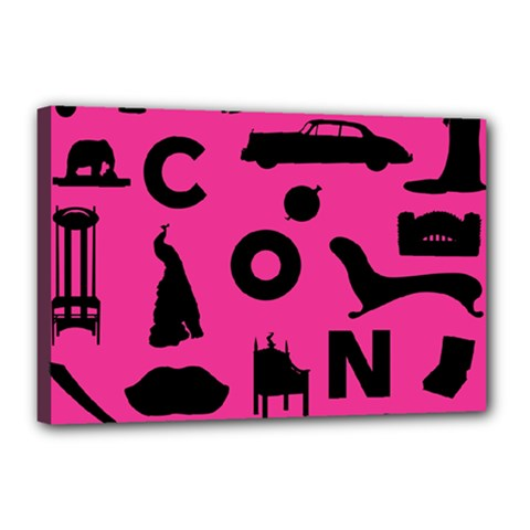 Car Plan Pinkcover Outside Canvas 18  x 12