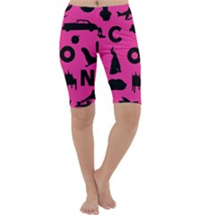 Car Plan Pinkcover Outside Cropped Leggings