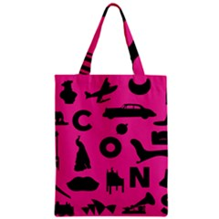 Car Plan Pinkcover Outside Zipper Classic Tote Bag