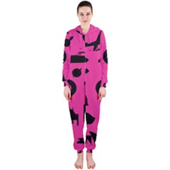 Car Plan Pinkcover Outside Hooded Jumpsuit (Ladies)