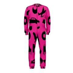 Car Plan Pinkcover Outside OnePiece Jumpsuit (Kids)