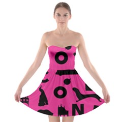 Car Plan Pinkcover Outside Strapless Bra Top Dress