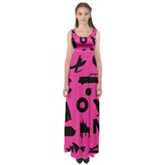 Car Plan Pinkcover Outside Empire Waist Maxi Dress